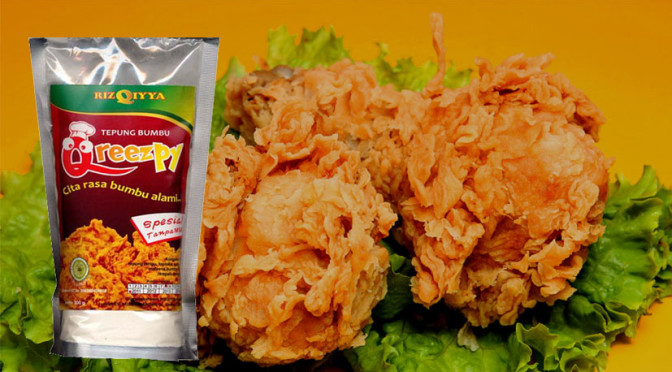 Tepung bumbu Fried chicken QREEZPY non msg non pengawet